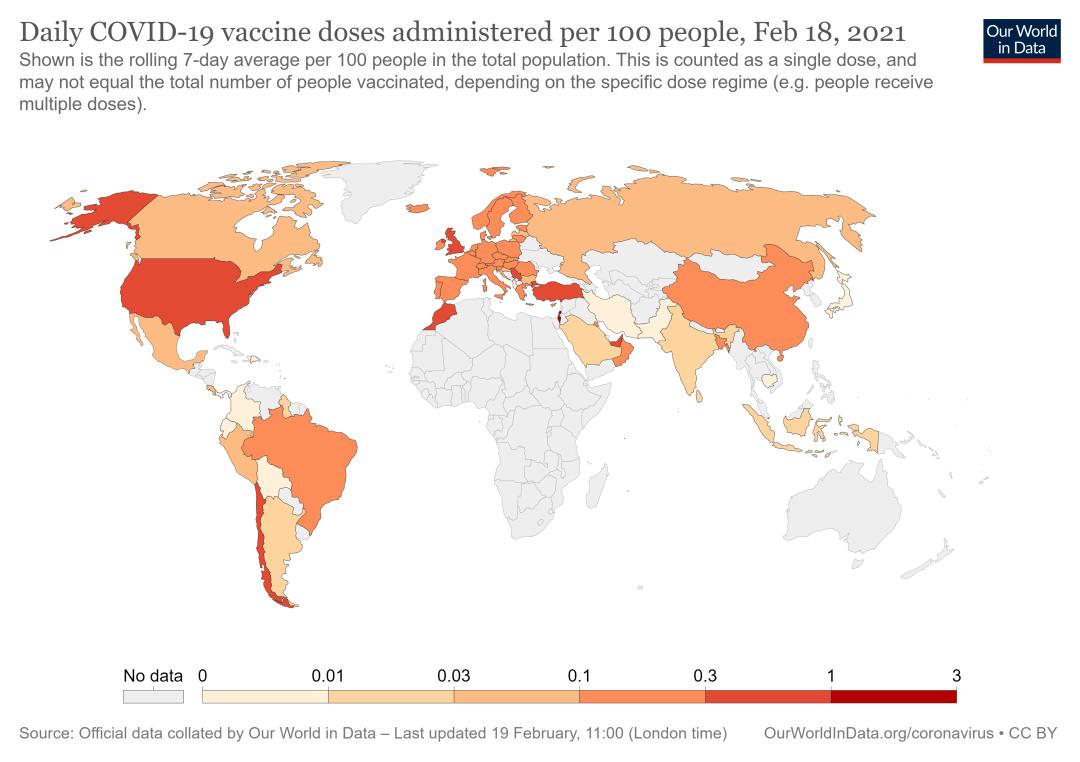 1.1亿确诊病例、2亿新冠疫苗接种量在哪里?|COVID地图
